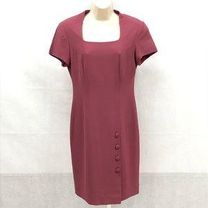 Liz Claiborne mauve short sleeve sheath dress